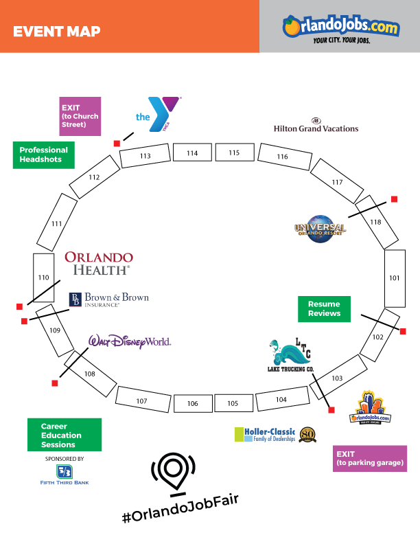 Diversity Job Fair 2019 Event Map